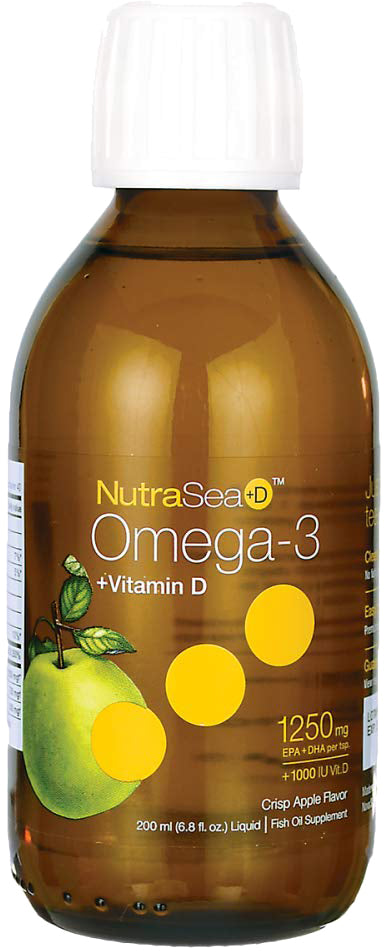 NutraSea™ Omega-3, 1250 mg of EPA + DHA, Crisp Apple Flavor, 6.8 Fl Oz (200 mL) Liquid
