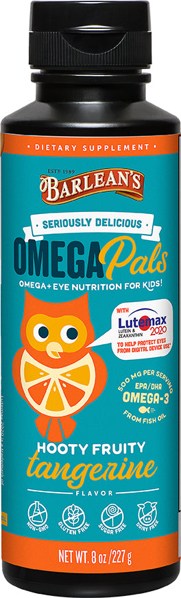 Omega Pals with Lutemax, 500 mg of Omega-3 EPA and DHA, 8 Fl Oz (227 mL) Liquid