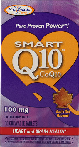 Smart Q10 100 mg, Maple Flavor, 30 Chewable Tablets