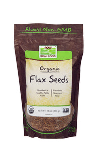 Flax Seeds, Organic, 16 oz.