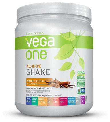 Vega One® All-In-One Shake, Vanilla Chai Flavor, 15 oz (437g)