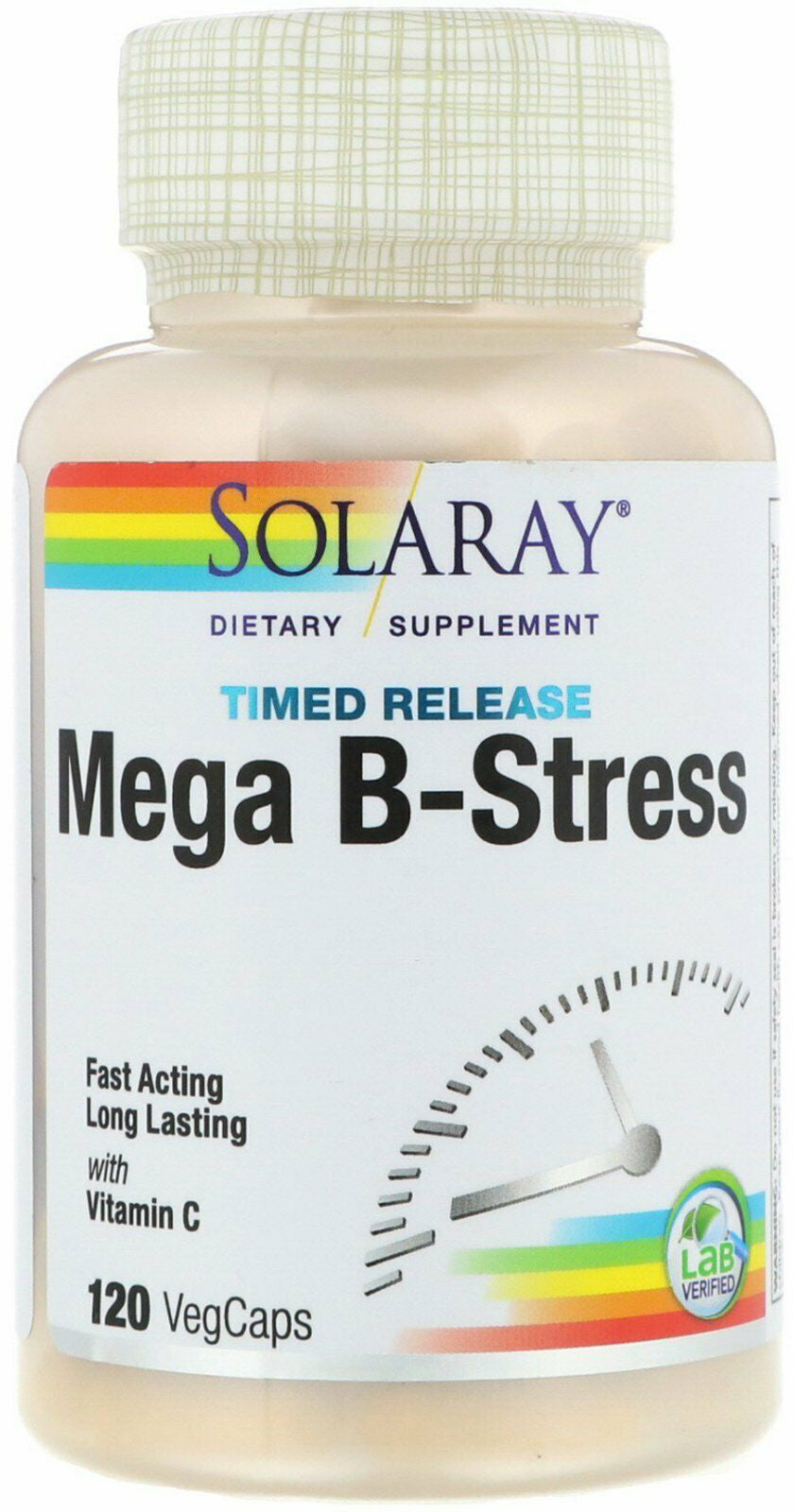 Mega B Stress Two Stage Timed Release, 120 Capsules