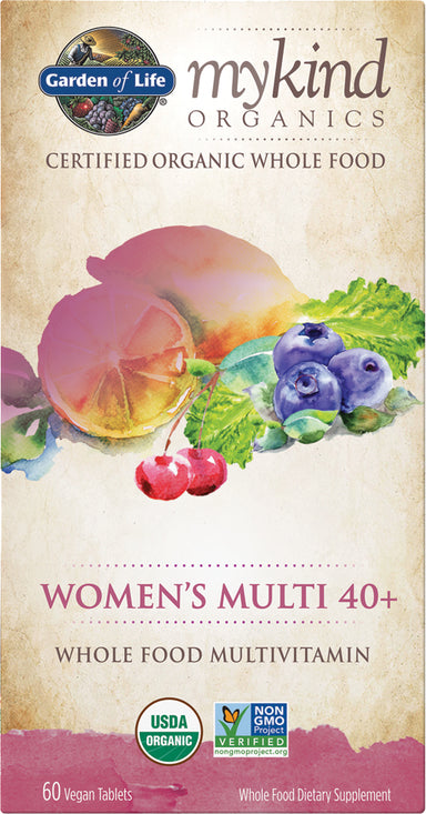 mykind Organics Women's Multi 40+, 60 Vegan Tablets