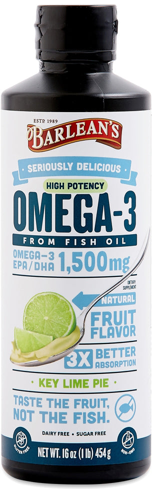 Omega-3 from Fish Oil, 1080 mg of Omega-3 EPA and DHA & 600 IU of Vitamin D, Key Lime Pie Flavor, 16 Fl Oz (454 mL) Liquid
