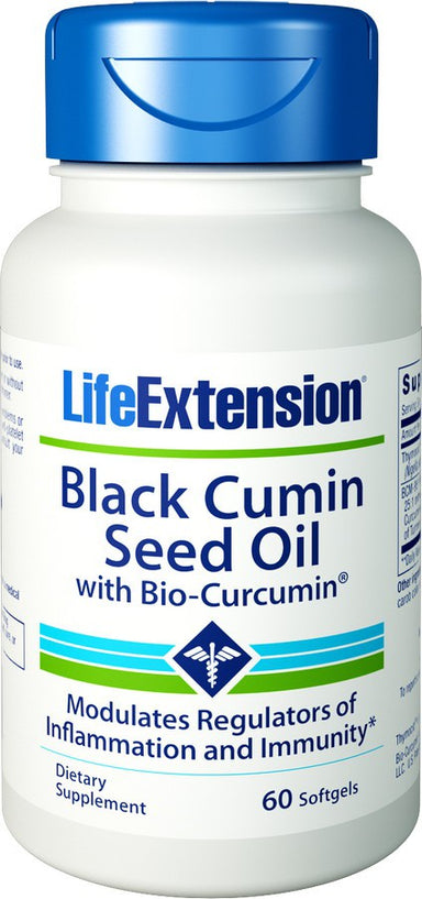 Black Cumin Seed Oil with Bio Curcumin, 60 Softgels