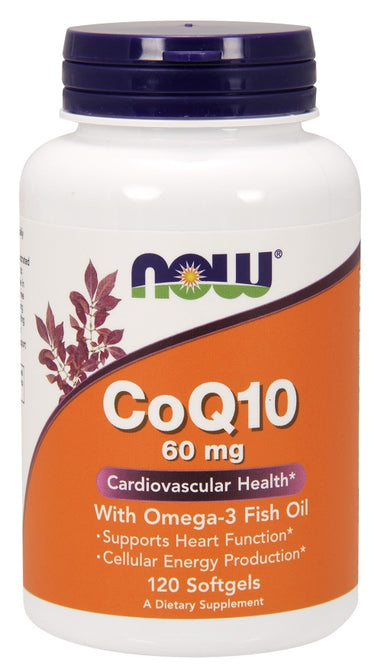 CoQ10 60 mg w/ Omega 3 Fish Oils, 120 Softgels