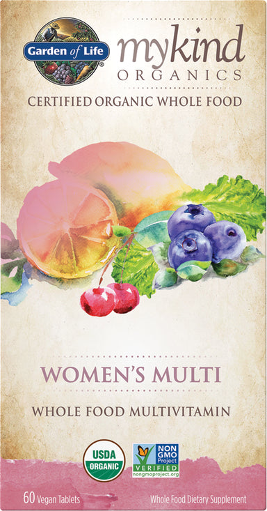 mykind Organics Women's Multi, 60 Vegan Tablets