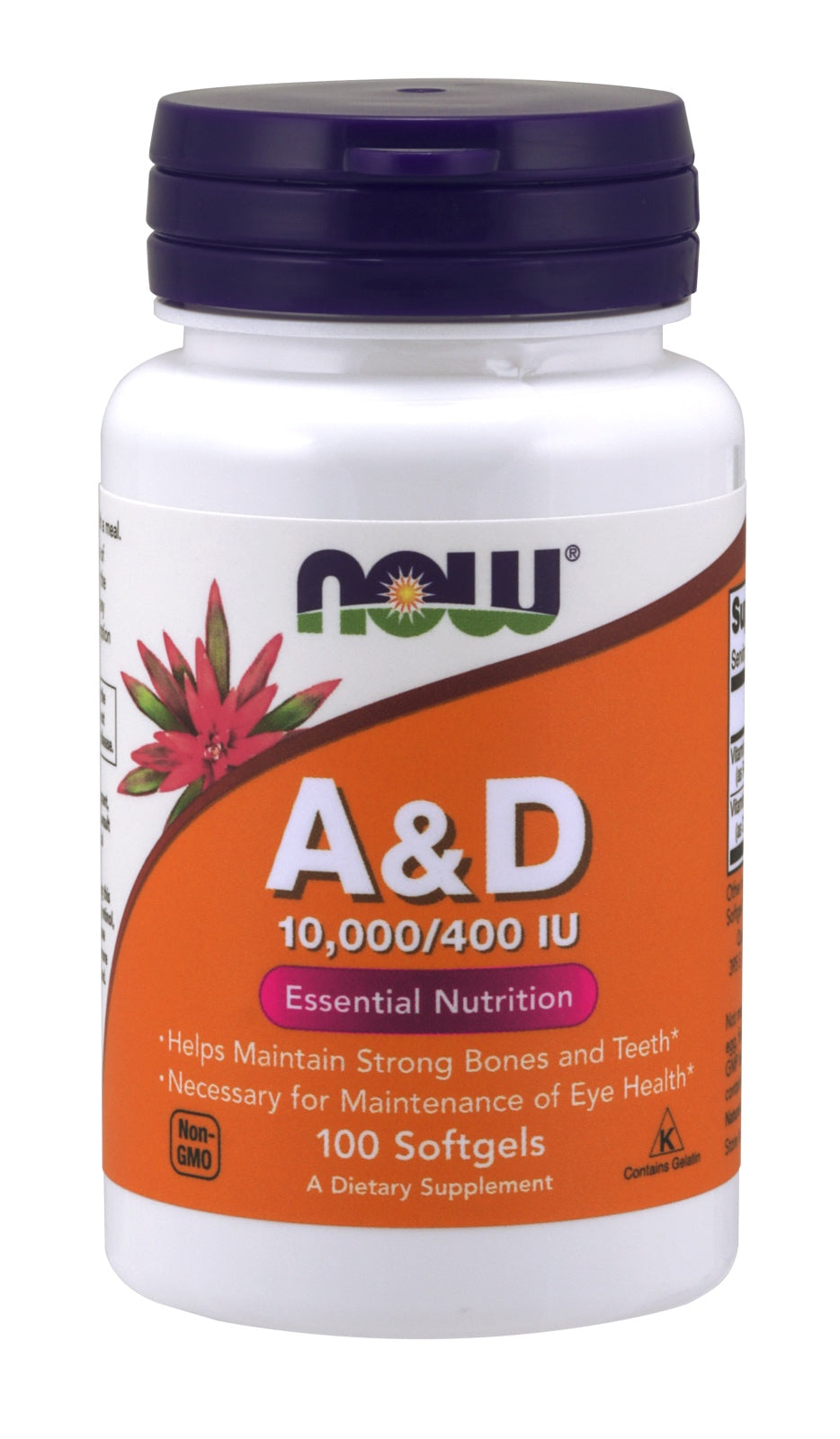 Vitamin A & D 10000/400 IU, 100 Softgels