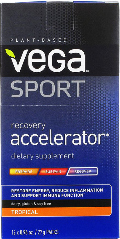 Vega Sport Recovery Tropical, 0.96 Oz (27 g) x 12 Powder Packets
