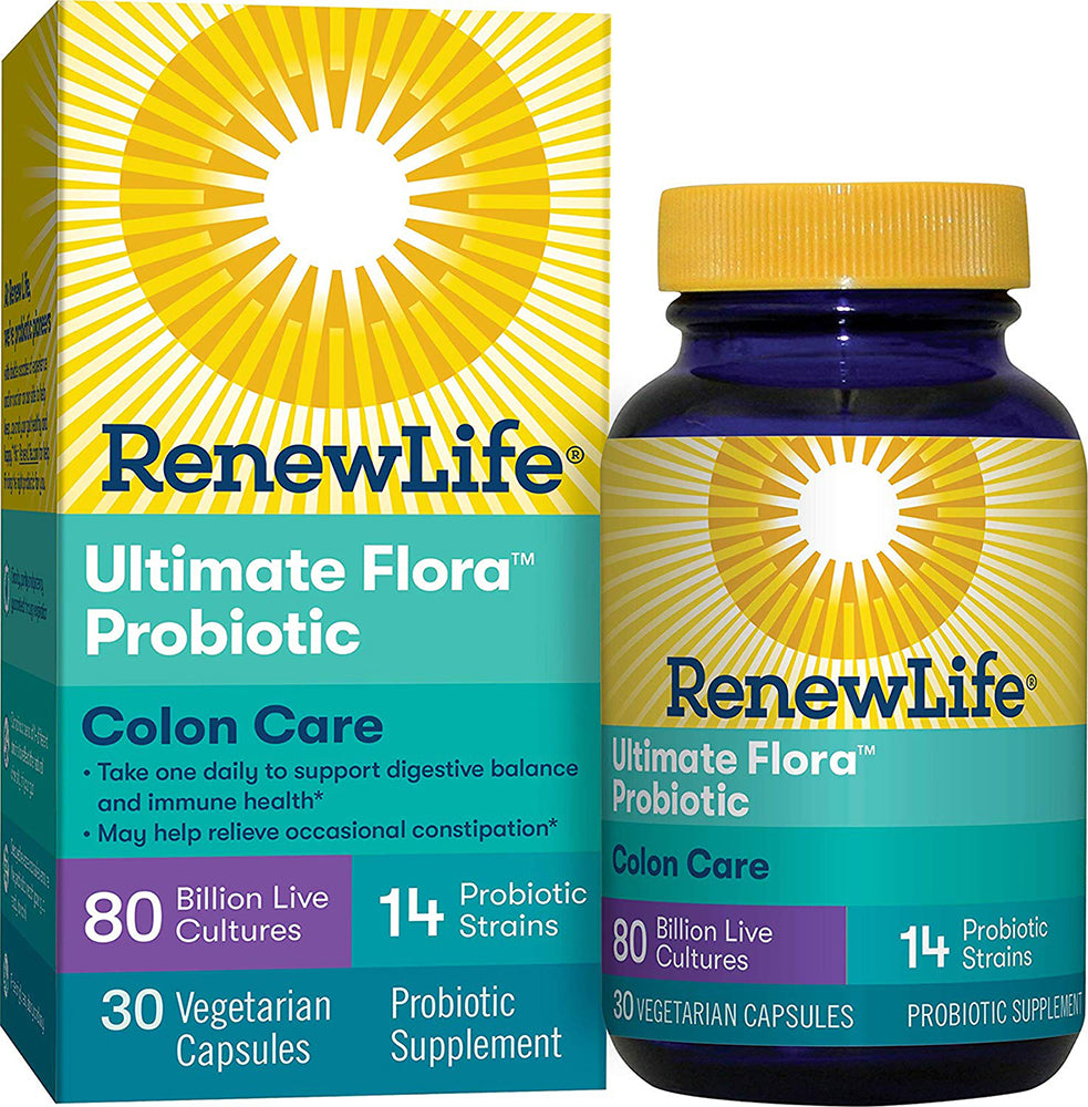Colon Care Ultimate Flora™ Probiotic 80 Billion Cultures & 14 Probitic Strains, 30 Vegetable Capsules