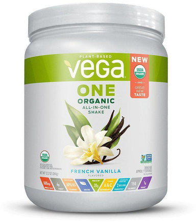 Vega One® Organic All-in-One Shake, French Vanilla Flavor, 17 servings, 25 oz