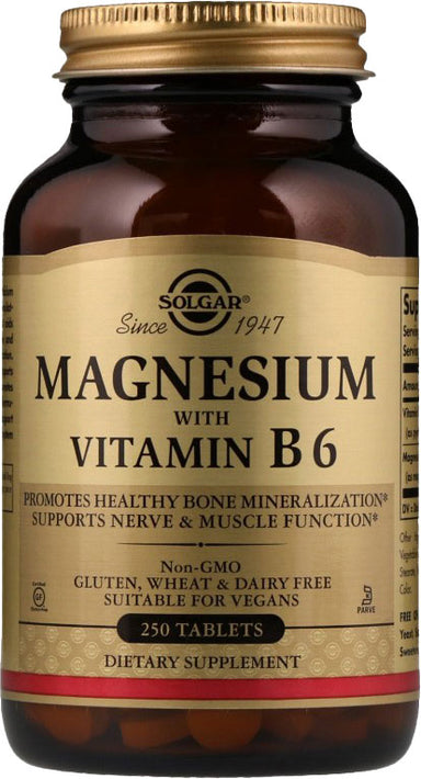 Magnesium with B6, 250 Tablets
