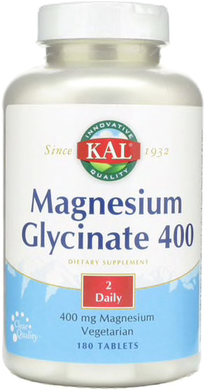 Magnesium Glycinate 400, 400 mg, 180 Tablets