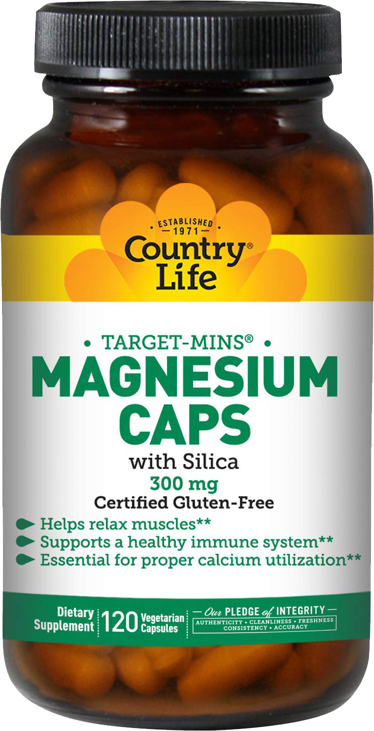 Magnesium Caps with Silica 300 mg, 120 Vegetarian Capsules