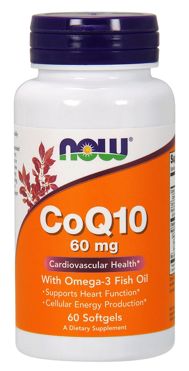 CoQ10 60 mg w/ Omega 3 Fish Oils, 60 Softgels