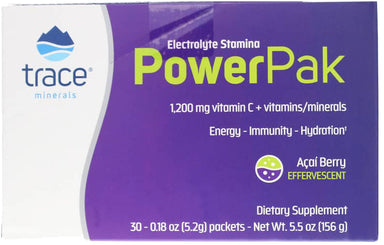 Electrolyte Stamina PowerPak, Acai Berry Flavor, 30 x 0.18 Oz (5.2 g) Powder Packets