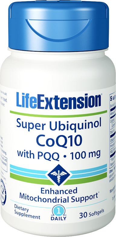Super Ubiquinol CoQ10 with PQQ, 30 Softgels