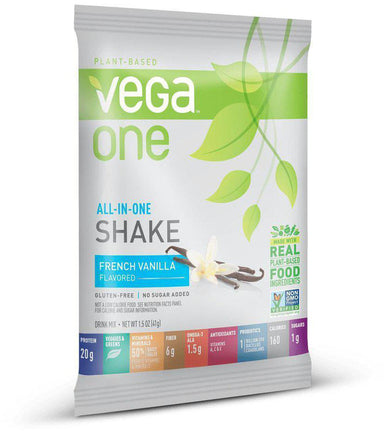 Vega One® All-In-One Shake, French Vanilla Flavor, Single, 1.5 oz (45 g)
