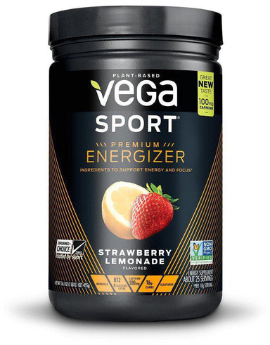 Vega Sport® Premium Energizer, Strawberry Lemonade Flavor, 25 Servings
