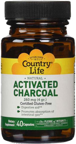 Activated Charcoal 260 mg, 40 Capsules