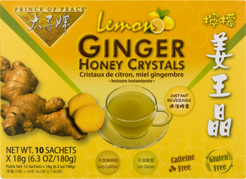 Ginger Honey Crystals with Honey, 10 Sachets