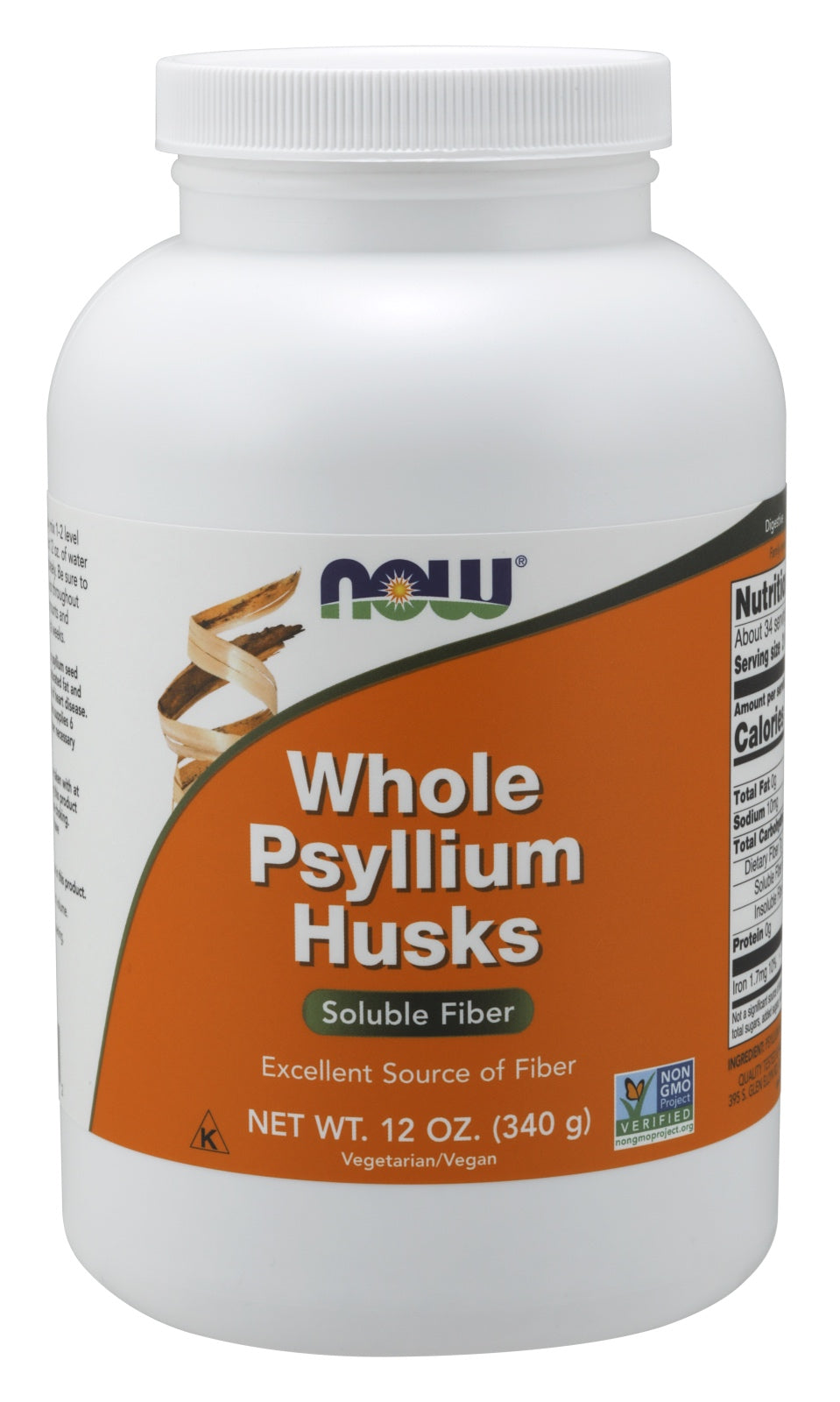 Psyllium Husks, Whole, 12 oz.