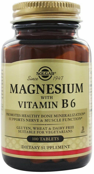 Magnesium with Vitamin B6, 100 Tablets