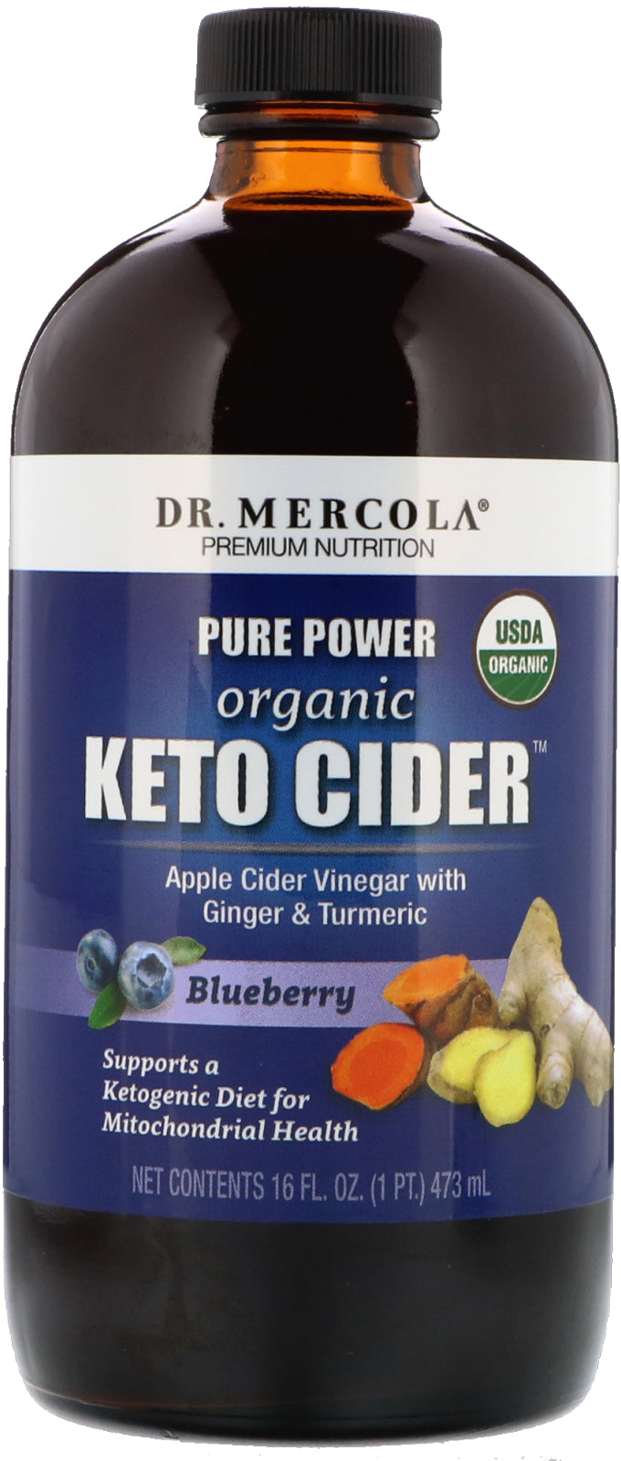 Pure Power Organic Keto Cider™, 16 Fl Oz (473 mL) Liquid
