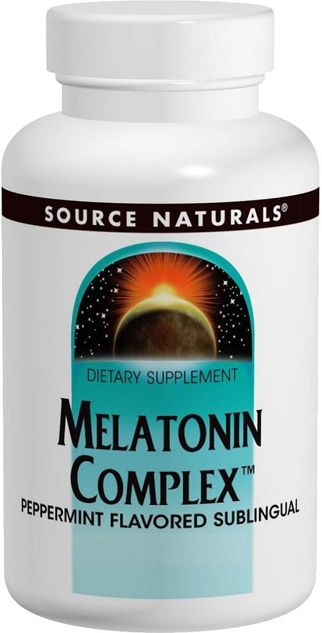 Melatonin Complex Peppermint Flavored Sublingual, 100 Tablets