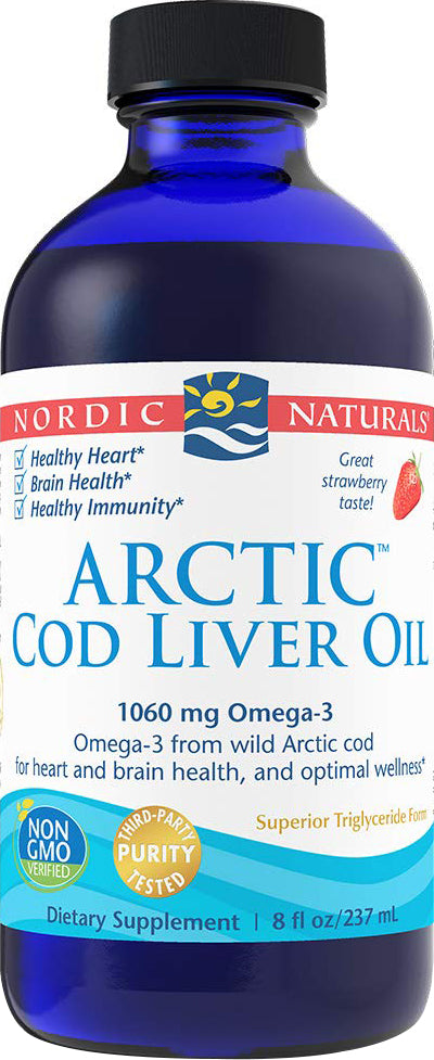 Arctic Cod Liver Oil, Strawberry Flavor, 8 Fl Oz