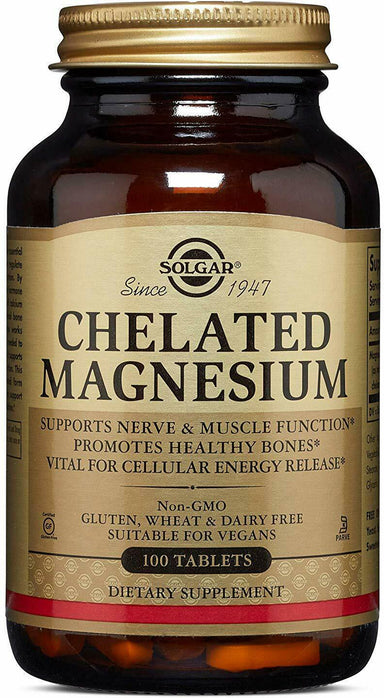 Chelated Magnesium, 100 Tablets