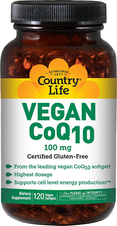 Vegan CoQ10 100 mg, 120 Vegan Softgels