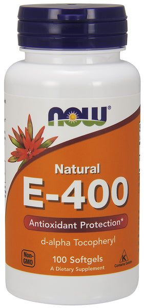 Vitamin E-400 IU D-Alpha Tocopheryl, 100 Softgels