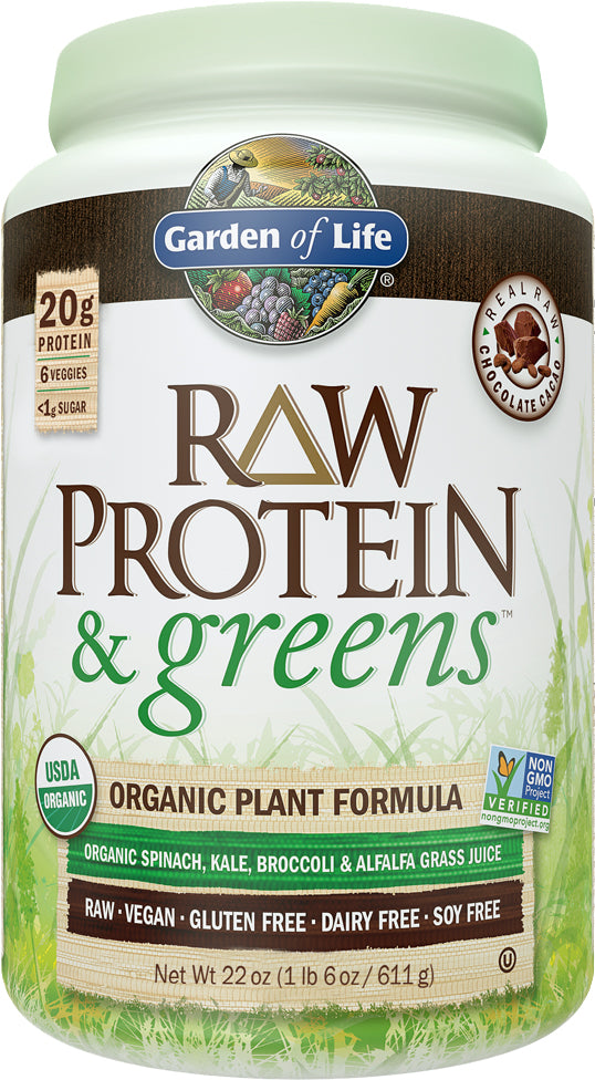 RAW Protein & Greens, Light Sweet Flavor, 23.2oz (651g) Powder