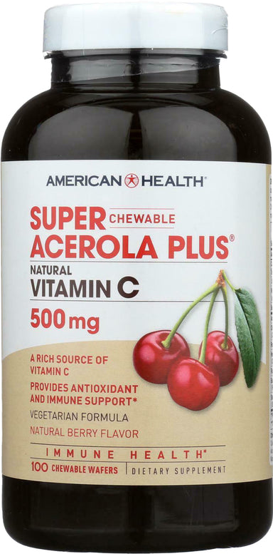 Super Acerola Plus® Natural Vitamin C, 500 mg, 100 Chewable Wafers