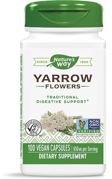 Yarrow Flowers, 100 Capsules