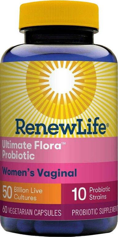 Ultimate Flora Women's Vaginal, 50 Billion CFU with 10 Strains, 60 Vegetarian Capsules