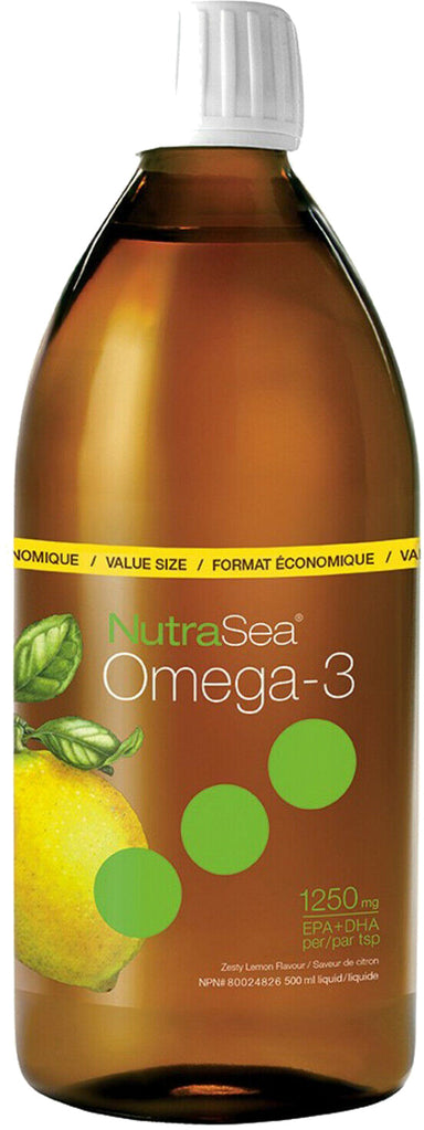 NutraSea™ Omega-3, 1250 mg of EPA + DHA, Zesty Lemon Flavor, 16.9 Fl Oz (200 mL) Liquid