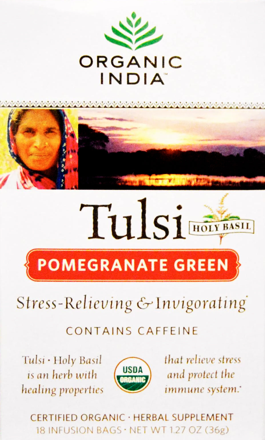 Pomegranate Green, 1.27 Ounce (36 g) 18 Tea Bags