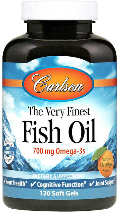 Norwegian The Very Finest Fish Oil, 700 mg of Omega-3s, Orange Flavor, 120 Softgels