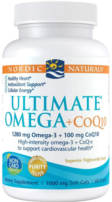 Ultimate Omega + CoQ10, 1000 mg, 60 Softgels