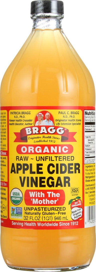 Raw ~ Unfiltered Apple Cider Vinegar with the 'Mother' - Unpasteurized, 32 Fl Oz (946 mL) Liquid