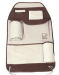 Auto Seat Back Organizer Car Accessories Multi-Pocket Travel Storage Bag Brown