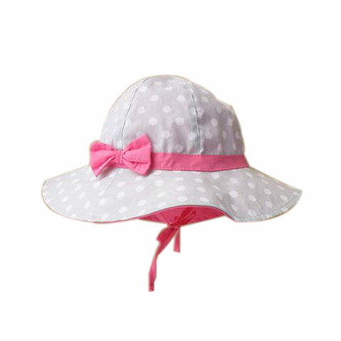 Summer Baby Girl Caps Cotton Sun Hat For 2-3 Years Baby Gray