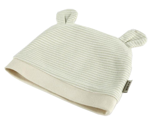 Cotton Baby Hat Stripe Infant Hat for 6-12 Month Baby