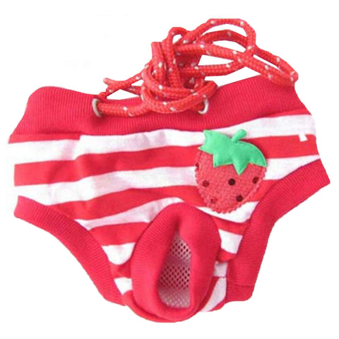 Cheap Pet Supplies Dogs Shaming Costumes Clothes Diapers Dresses Underwear Red