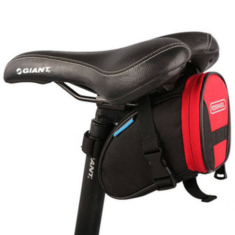 [Red/Black]Cycling Seat Bag Bicycle Saddle Bag Under Seat Pack Bike Seat Pouch