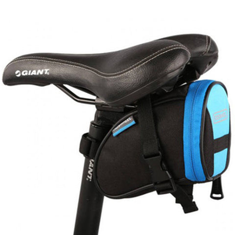 [Blue/Black]Cycling Seat Bag Bicycle Saddle Bag Under Seat Pack Bike Seat Pouch