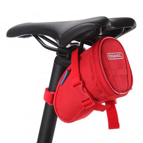 [Red]Cycling Seat Bag Bicycle Saddle Bag Under Seat Pack Bike Seat Pouch