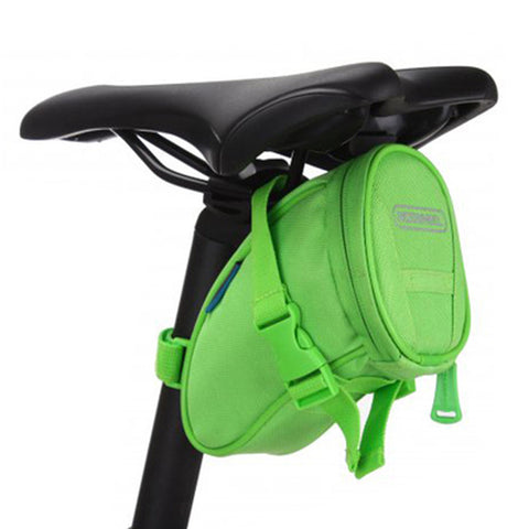 [Green]Cycling Seat Bag Bicycle Saddle Bag Under Seat Pack Bike Seat Pouch